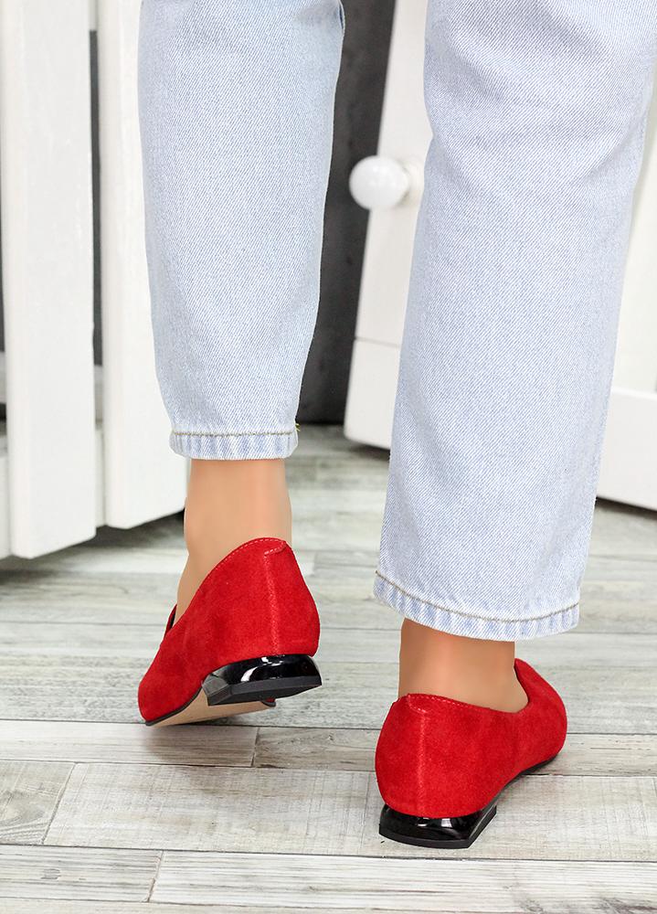 Туфли лодочки красная замша Magic 7481-28