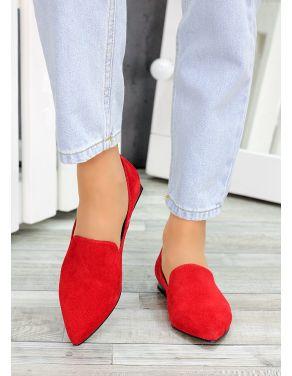 Туфлі лодочки червона замша Magic 7481-28