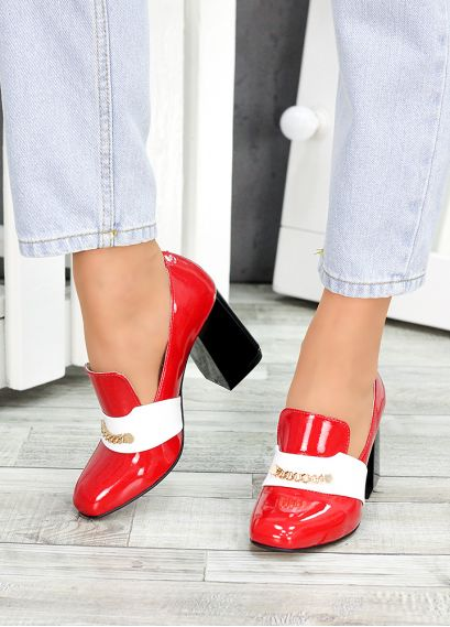 Туфлі шкіряні червоний лак Loft 7487-28
