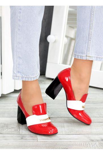 !Туфли кожа красный лак Loft 7487-28