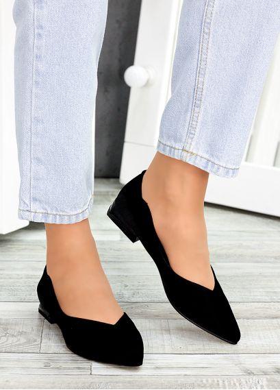 Туфлі чорна замша Volna 7488-28