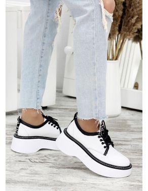Туфлі шкіряні броги білі 7683-28