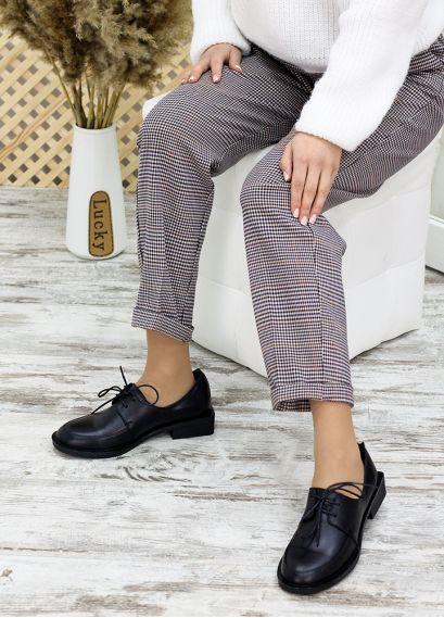 Туфлі оксфорди чорна шкіра 7686-28