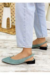 Туфлі босоніжки м'ята замша Rose 7707-28