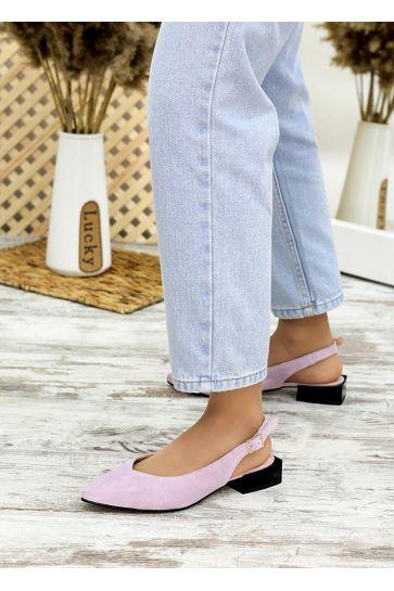 Туфли босоножки фиалка замша Rose 7708-28