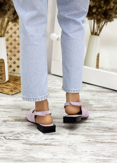 Туфлі босоніжки фіалка замша Rose 7708-28