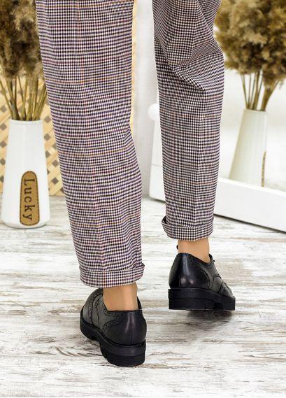 Туфлі оксфорди чорна шкіра 7715-28