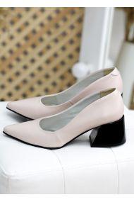 Туфли пудра кожа 7742-28