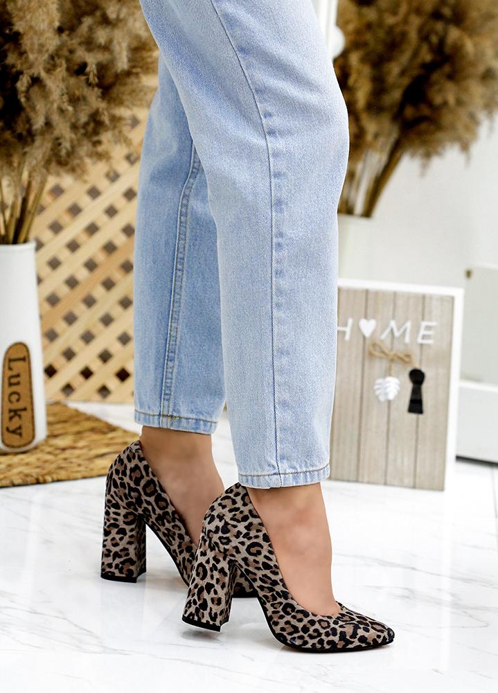 Туфлі АКЦІЯ леопард шкіра 7744-28