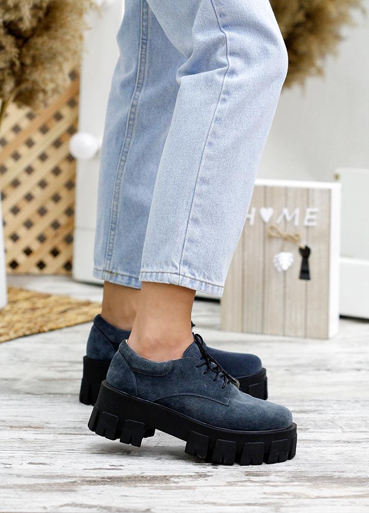 Туфлі броги замшеві 7780-28