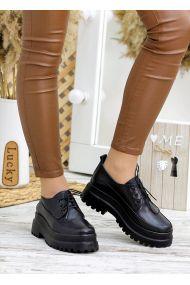 Туфли броги черная кожа 7785-28
