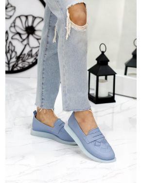 Туфлі лофери шкіра Twist св. синій 7814-28