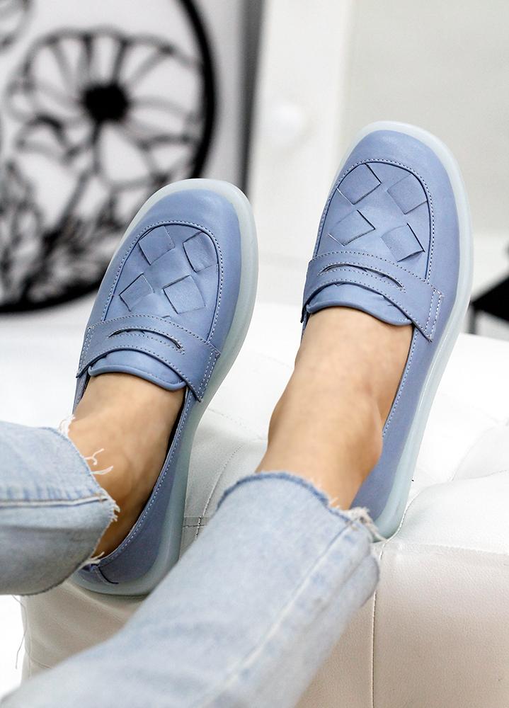 Туфли лоферы кожа Twist св. синий 7814-28