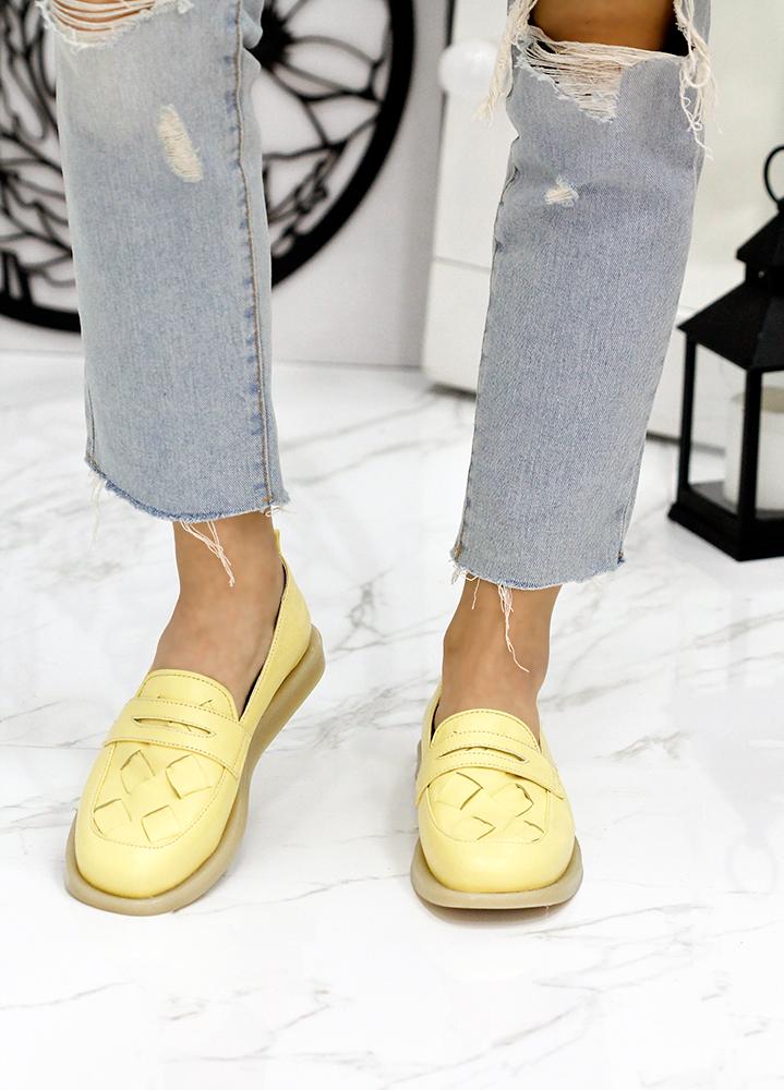 Туфли лоферы кожа Twist желтый 7819-28