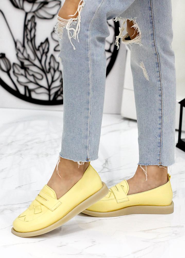 Туфлі лофери шкіра Twist жовтий 7819-28